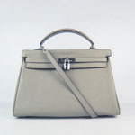 Hermes Kelly 35cm Togo Leather Bag Khaki 6308