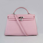 Hermes Kelly 35cm Togo Leather Bag pink 6308