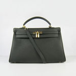 Hermes Kelly 35cm Togo Leather Bag black 6308