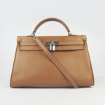 Hermes Kelly 35cm Togo Leather Bag Light brown 6308