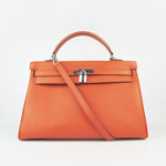 Hermes Kelly 35cm Togo Leather Bag Orange 6308