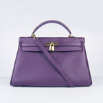 Hermes Kelly 35cm Togo Leather Bag Purple 6308