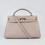 Hermes Kelly 35cm Togo Leather Bag Grey 6308