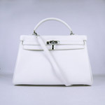 Hermes Kelly 35cm Togo Leather Bag white 6308