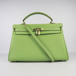 Hermes Kelly 35cm Togo Leather Bag green 6308