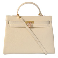 Hermes Kelly 35cm Togo Leather gold beige