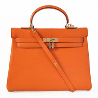 Hermes Kelly 35cm Togo Leather gold orange
