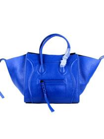 2012 Celine luggage phantom square tote bag 88033 blue