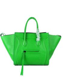2012 Celine luggage phantom square tote bag 88033 green