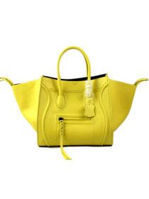 2012 Celine Luggage tote phantom leather 88033 lemon yellow