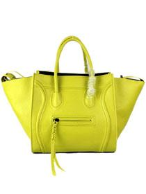 Cheap Celine luggage phantom square tote bag 88033 yellow