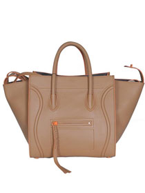 2013 Celine Luggage Phantom Square original leather bag 3341 apricot