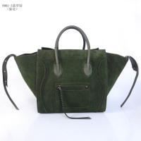 Celine Luggage Phantom Square Bag 9901-3 Jade green