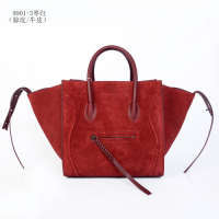 Celine Luggage Phantom Square Bag 9901-3 Jujube Red