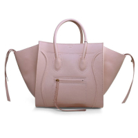 2013 Celine Luggage Phantom Square original leather bag 3341 light pink