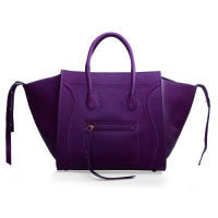 2013 Celine Luggage Phantom Square original leather bag 3341 purple