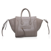 2013 Celine luggage phantom square bag crocodile leather 3341 light khaki