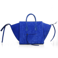 2013 Celine luggage phantom square bag 3341 blue