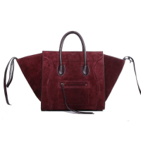 2013 Celine luggage phantom square bag 3341 wine red