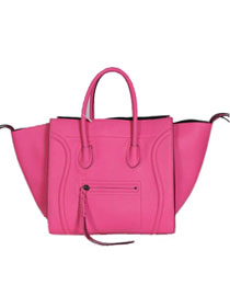 2013 Celine Luggage Phantom Square Bag original leather 3341 pink&black