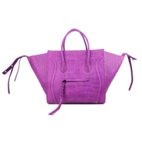 2013 Celine Luggage tote crocodile leather 88033 purple