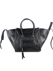 2013 Celine Phantom sqaure tote leather bag 88033 black