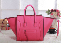 2013 Celine luggage phantom square original leather bag 3341 fluorescent pink