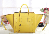 2013 Celine luggage phantom square original leather bag 3341 fluorescent yellow