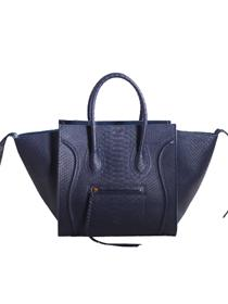2013 Celine luggage phantom square bag snakeskin 3341 dark blue