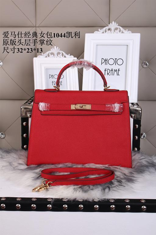 Hermes epsom leather kelly Tote Bag1044 red
