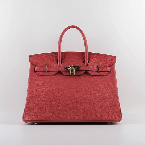 2015 Hermes Birkin 35CM H-35 gold hardware red