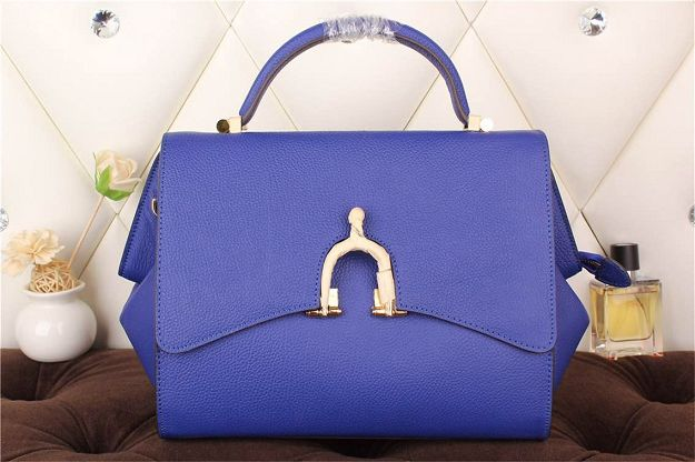 Hermes kelly 35CM stirrup top handle bag 30560 blue
