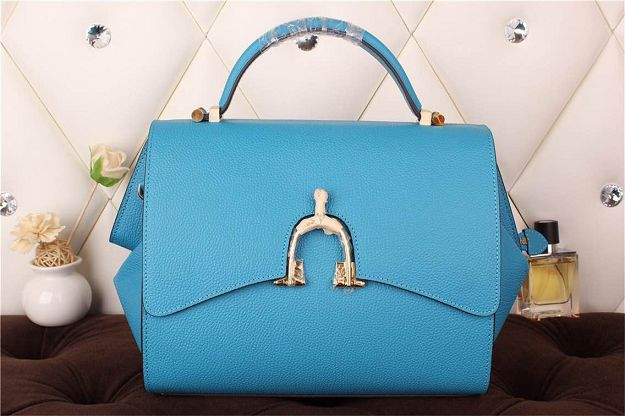Hermes kelly 35CM stirrup top handle bag 30560 sky blue