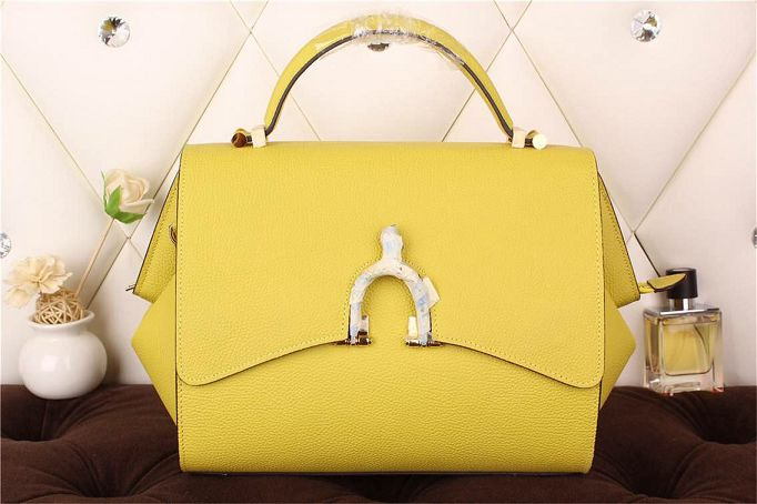 Hermes kelly 35CM stirrup top handle bag 30560 yellow