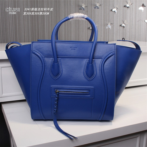 Celine luggage phantom original leather bags 3341 brilliant blue