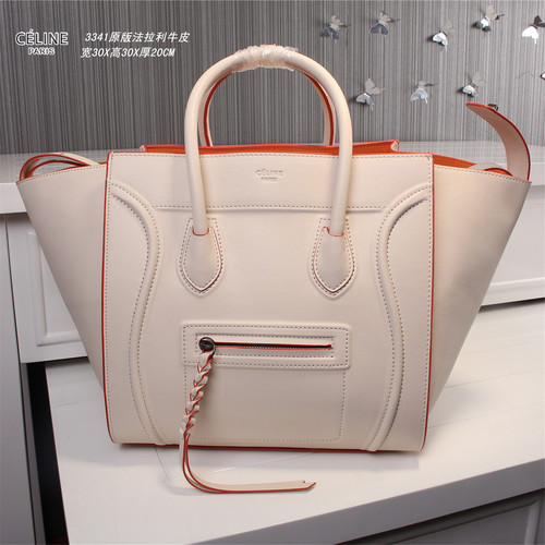 Celine luggage phantom original leather bags 3341 light pink