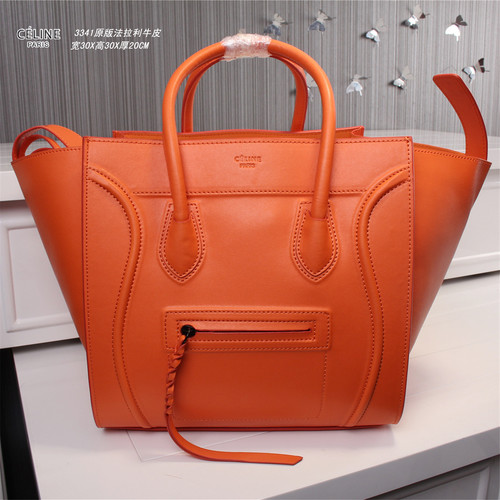 Celine luggage phantom original leather bags 3341 orange