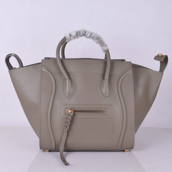 Celine Luggage Phantom Tote Bag Ferrari Leather 8803-3 Grey