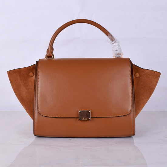 Celine Trapeze Bag Original Nubuck Leather 8803-7 Brown