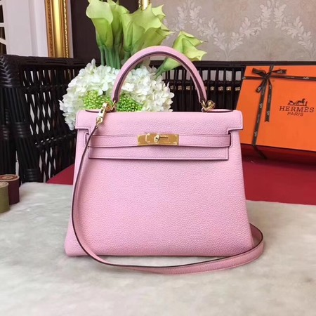Hermes Kelly KY32 Tote Bag togo original Leather pink Gold hardware