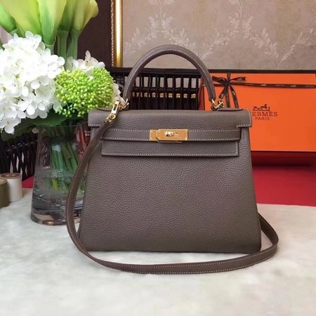 Hermes Kelly KY32 Tote Bag togo original Leather gray Gold hardware