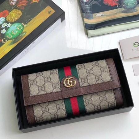 Gucci Ophidia GG continental wallet 496342 brown