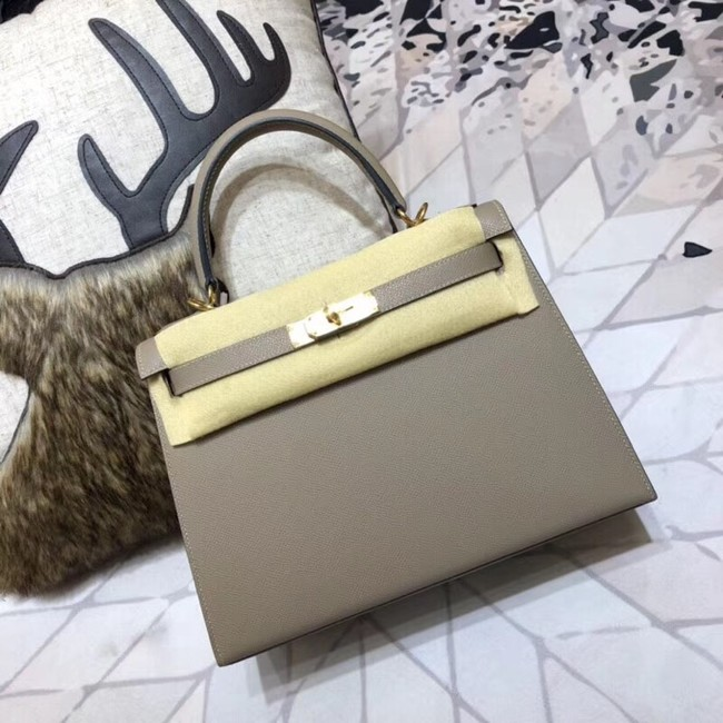 Hermes original Kelly Epsom Leather KL32 grey