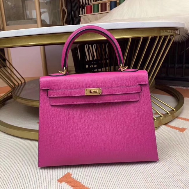 Hermes original Kelly Epsom Leather KL32 rose