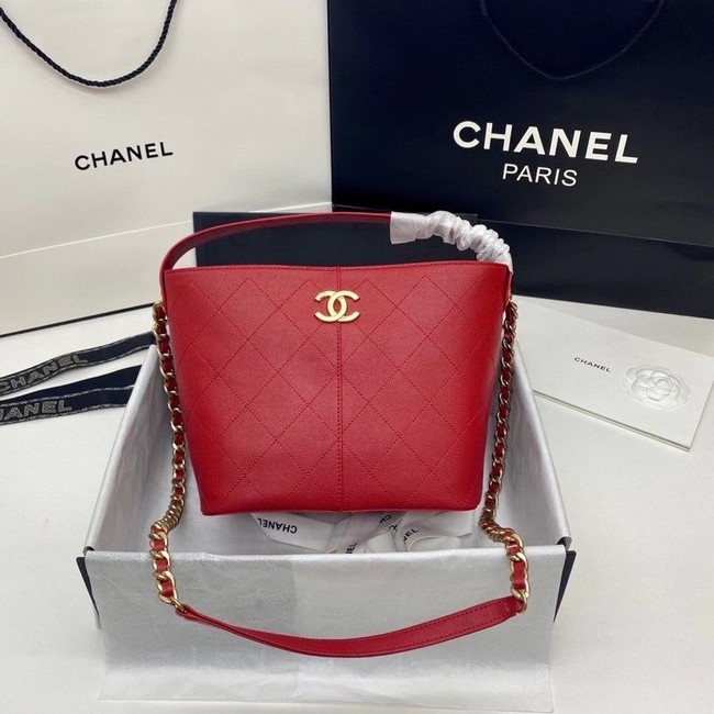 Chanel small shopping bag AS2286 red