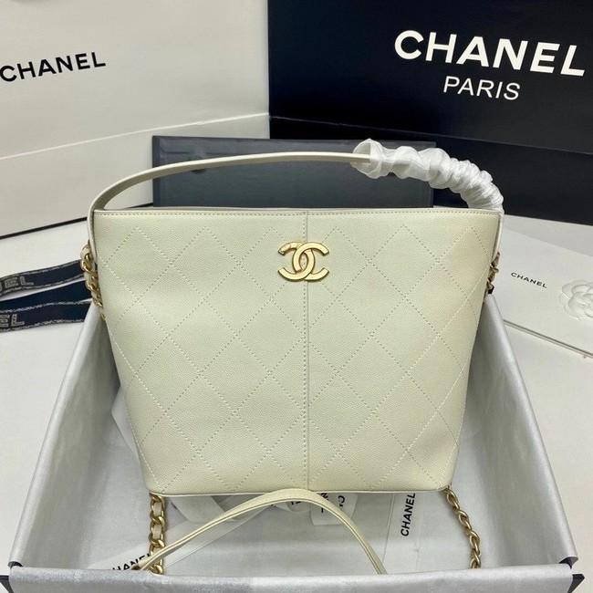 Chanel small shopping bag AS2286 white
