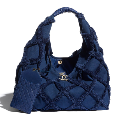 Chanel large hobo bag AS2292 Navy Blue
